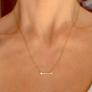 Stella & Dot Gold On The Mark Necklace
